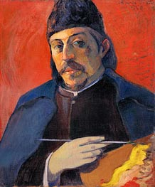 Gauguin | Self Portrait with Palette | Giclée Canvas Print