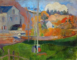 Gauguin | The Mill David, Landscape in Brittany | Giclée Canvas Print