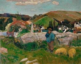 Gauguin | The Swineherd (Peasants with Pigs) | Giclée Canvas Print