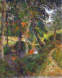 Gauguin | Father Jean's Walk (The Red Roofs) | Giclée Canvas Print