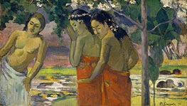 Three Tahitian Women, 1896 by Gauguin | Giclée Canvas Print