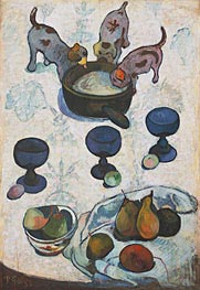 Still Life with Three Puppies, 1888 by Gauguin | Giclée Canvas Print