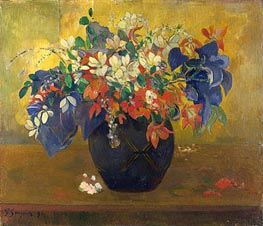 A Vase of Flowers, 1896 by Gauguin | Giclée Canvas Print