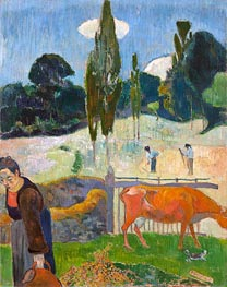 Gauguin | The Red Cow, 1889 | Giclée Canvas Print