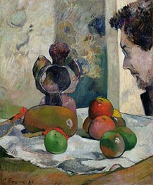 Gauguin | Still Life with Profile of Laval, 1886 | Giclée Canvas Print