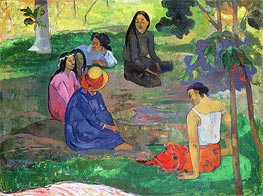 Gauguin | Les Parau Parau (The Gossipers), 1891 | Giclée Canvas Print