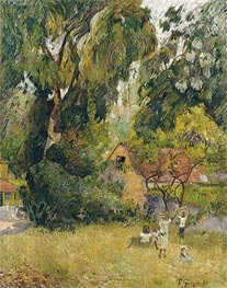Gauguin | Huts under the Trees, 1887 | Giclée Canvas Print