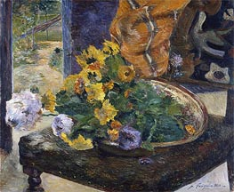 Gauguin | To Make a Bouquet, 1880 | Giclée Canvas Print