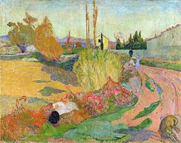 Gauguin | Landscape at Arles | Giclée Canvas Print