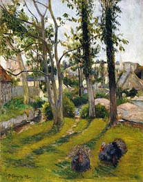 The Turkeys (Pont Aven Landscape), 1888 by Gauguin | Giclée Canvas Print