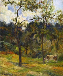 Normandy Landscape: Cow in a Meadow, 1884 by Gauguin | Giclée Canvas Print