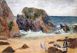 Cows on the Seashore, 1886 by Gauguin | Giclée Canvas Print