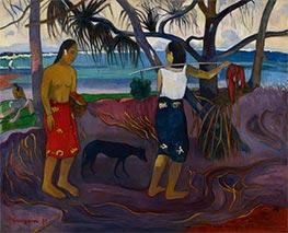 Gauguin | I Raro Te Oviri (Under the Pandanus), 1891 | Giclée Canvas Print