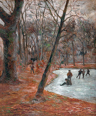 Sklaters in the Park in Frederiksberg, 1884 | Gauguin | Painting Reproduction
