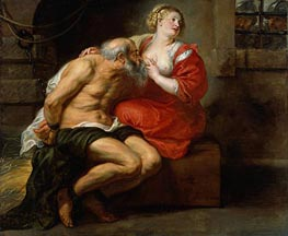 Rubens   Cimon and Pero, c.1630 by   Giclée Canvas Print