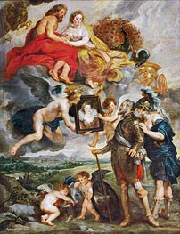 Rubens | Portrait of Maria de' Medici Presented to Henry IV | Giclée Canvas Print