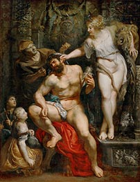 Hercules and Omphale, c.1602/05 by Rubens | Giclée Canvas Print