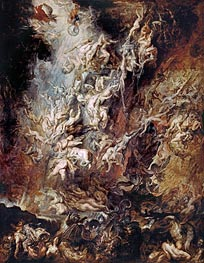 The Fall of the Damned, c.1620/21 by Rubens | Giclée Canvas Print