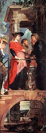 Rubens   Visitation (Descent from Cross Altarpiece - Left Panel), c.1611/14   Giclée Canvas Print