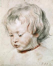 Rubens   Portrait of Artist Son Nicolas, 1621   Giclée Paper Print