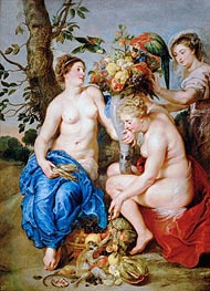 Ceres with Two Nymphs, c.1624 by Rubens | Giclée Canvas Print