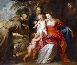 Rubens   The Holy Family with Saints Francis and Anne and the Infant Saint John the Baptist, c.1630/35   Giclée Canvas Print