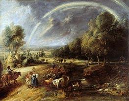 Rubens | Landscape with Rainbow, c.1636 | Giclée Canvas Print
