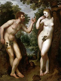Adam and Eve, c.1599 by Rubens | Giclée Canvas Print