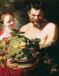 Rubens | Faun and Nymph, c.1620 | Giclée Canvas Print