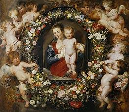 Rubens | Virgin with a Garland of Flowers,  c.1618/20 | Giclée Canvas Print