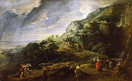 Rubens | Landscape with Ulysses and Nausicaa, c.1625/27 | Giclée Canvas Print