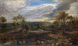 A Landscape with a Shepherd and his Flock, c.1638 by Rubens | Giclée Canvas Print