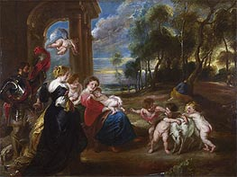 Rubens | The Holy Family with Saints in a Landscape, c.1635/40 | Giclée Canvas Print
