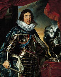 Rubens | Portrait of Louis XIII, King of France, c.1622/25 | Giclée Canvas Print
