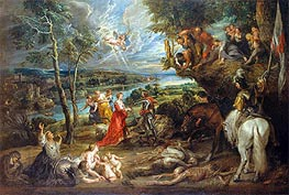 Rubens | Landscape with St George and the Dragon, 1635 | Giclée Canvas Print