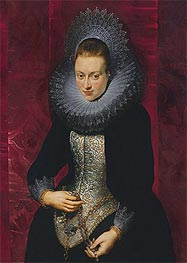 Rubens | Portrait of a Young Woman with a Rosary, c.1609/10 | Giclée Canvas Print