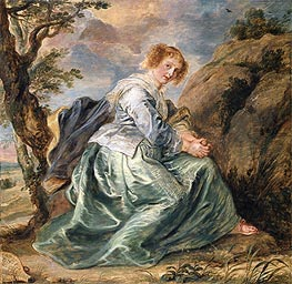 Rubens | Hagar in the Desert, a.1630 | Giclée Canvas Print