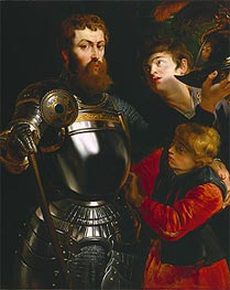 Rubens   Warrior With Two Pages, c.1614/16   Giclée Canvas Print