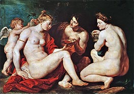 Venus, Cupid, Bacchus and Ceres, c.1613 by Rubens | Giclée Canvas Print