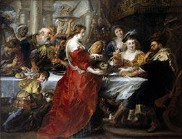 Rubens   The Feast of Herod, c.1635/38   Giclée Canvas Print