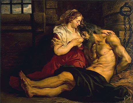 Roman Charity, c.1612 | Rubens | Painting Reproduction