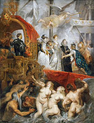 The Arrival of Marie de Medici in Marseilles, 3rd November 1600, c.1621/25   Rubens   Painting Reproduction