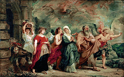 Lot and His Family Leaving Sodom, 1625 | Rubens | Painting Reproduction