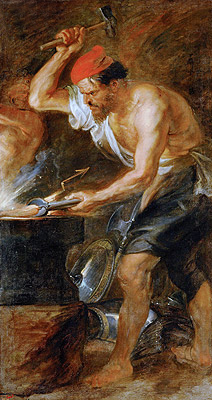 Rubens | Vulcan Forging the Lightning of Jupiter, c.1636/38 | Giclée Canvas Print