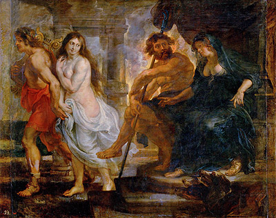 Orpheus and Euridice with Pluto and Proserpina, c.1636/38 | Rubens | Painting Reproduction