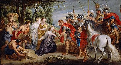 David Meeting Abigail, c.1620   Rubens   Painting Reproduction