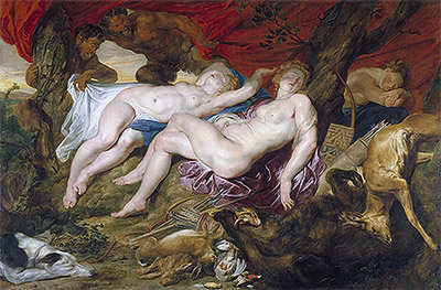 Diana and her Nymphs Spied upon by Satyrs, c.1616 | Rubens | Painting Reproduction