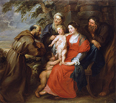 Rubens | The Holy Family with Saint Francis, c.1630 | Giclée Canvas Print