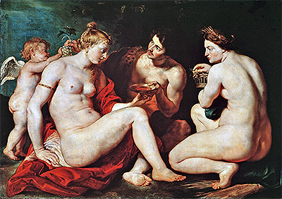 Rubens | Venus, Cupid, Bacchus and Ceres, c.1613 | Giclée Canvas Print