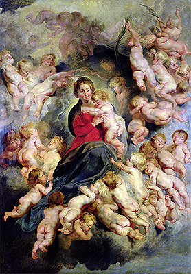 The Virgin and Child Surrounded by the Holy Innocents (The Virgin with Angels), 1618 | Rubens | Painting Reproduction